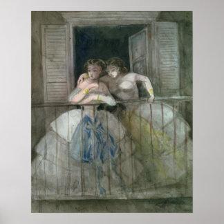 Flickor på balkongen, 1855-60 poster