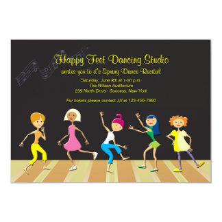 Flickor som dansar högläsninginbjudan 12,7 x 17,8 cm inbjudningskort