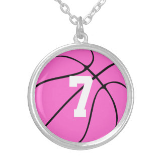 Flickor som den rosa basketspelare Jersey Silverpläterat Halsband