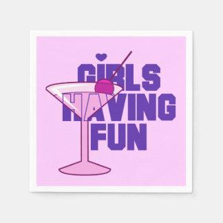 Flickor som har roliga servetter för Bachelorette