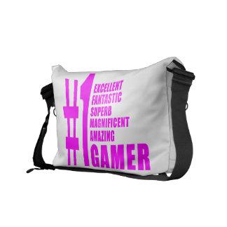 Flickor som spelar Gamers: Rosor numrerar en Gamer Kurir Väska