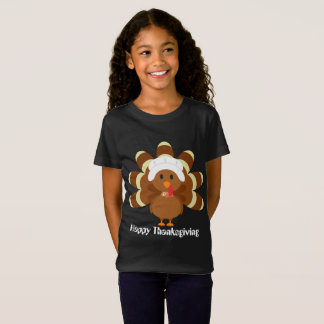 Flickor som thanksgivingen vallfärdar kalkonen, tshirts