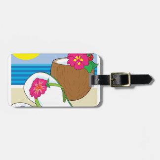 Flinflip flops och drink bagagebricka