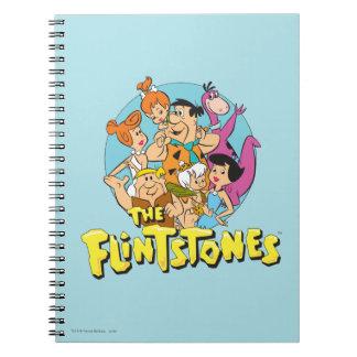 Flintstonesna och den grafiska spillrorfamiljen anteckningsbok