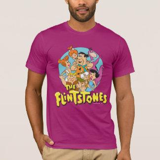 Flintstonesna och den grafiska spillrorfamiljen tee shirt