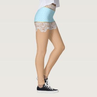 Flirty blåttsnörekjol för kvinna leggings