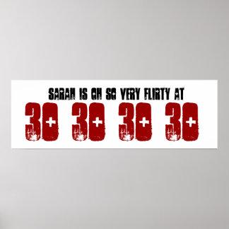 Flirty Grunge Z60F för 30års födelsedagpartybaner
