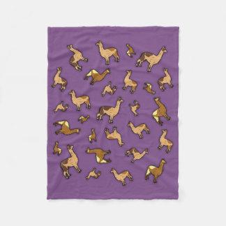 Flock av Llamas Fleecefilt