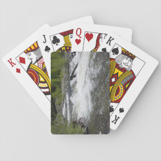 Flod och träd som leker kort spel kort