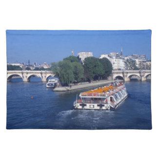 Flod Seine, i Paris frankriken Bordstablett