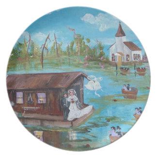 Flodarmbröllop Tallrik