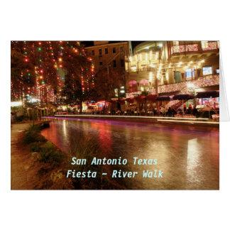 Floden för San Antonio Texas Fiesta~ går Hälsningskort