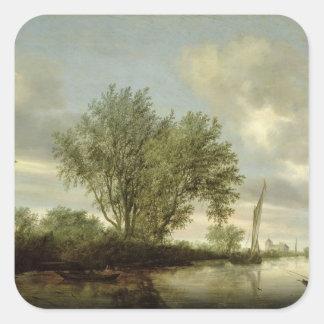 Floden landskap, 1645 fyrkantigt klistermärke