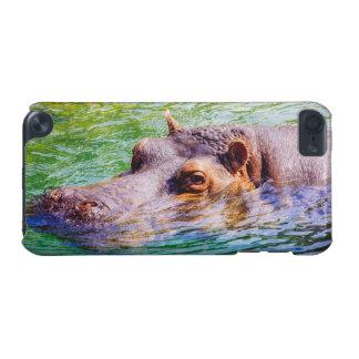 Flodhäst i färgrikt vatten, djur fotografi iPod touch 5G fodral