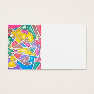 Flodhästen Stjärna-Räcker målat abstrakt Visitkort