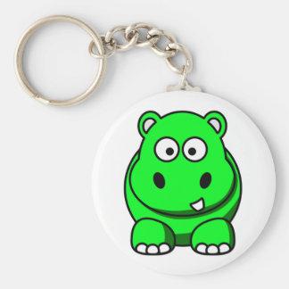 Flodhästgrönt Rund Nyckelring