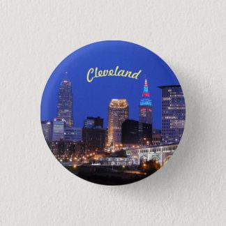 Flodhorisont Cleveland OH knäppas Mini Knapp Rund 3.2 Cm