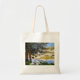 Flodplats på Bennecourt, Claude Monet coola 1868, Tote Bag