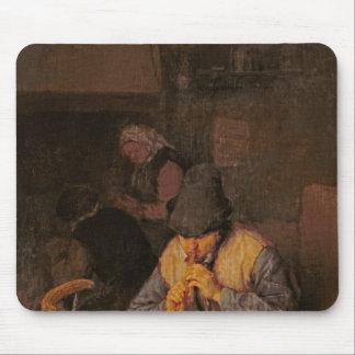 Flöjtspelare, 17th århundrade musmatta