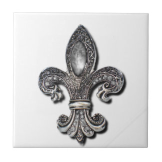 Flor De Lis Fleur De Lis symbol New Orleans Kakelplatta