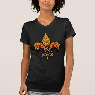 Flor-De-Lis vapensköld, blomma-lilja som är Tee Shirt