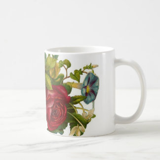 Floral/fruktkonst för vintage kaffemugg
