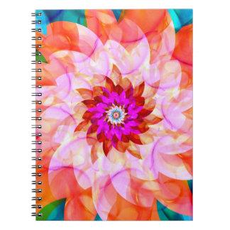 Florali Anteckningsbok Med Spiral