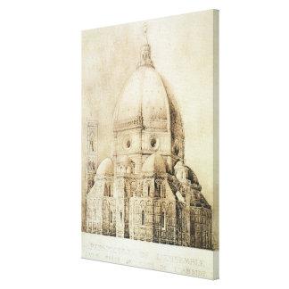 Florence domkyrka från öster, från 'fragment canvastryck