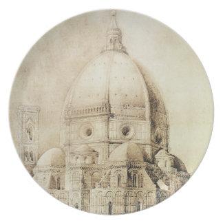 Florence domkyrka från öster, från 'fragment tallrik