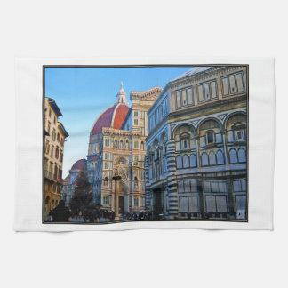 Florence Duomodomkyrka med kärlekcitationstecken Kökshandduk