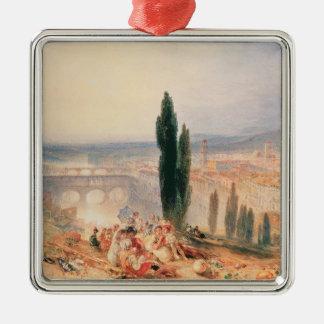Florence från near San Miniato, 1828 Julgransprydnad Metall