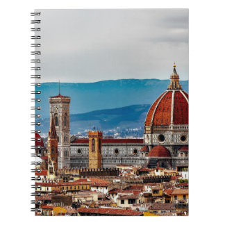Florence gammal stad, italienhorisont anteckningsbok
