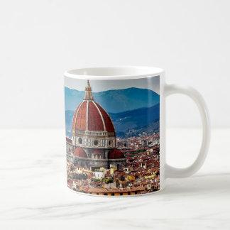 Florence gammal stad, italienhorisont kaffemugg