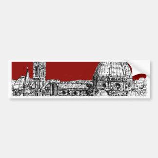 Florence italien i rött bildekal