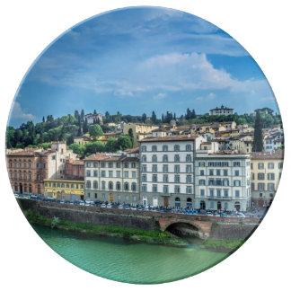 Florence italien porslinstallrik