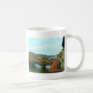 Florence italienshopping överbryggar kaffemugg
