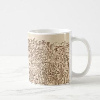 Florence medeltida träsnitt kaffemugg