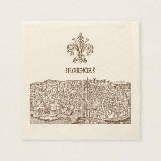 Florence medeltida träsnitt papper servetter