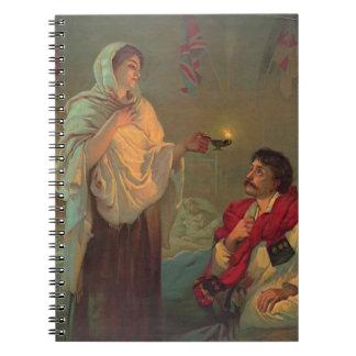 Florence Nightingale 1891 Anteckningsbok Med Spiral