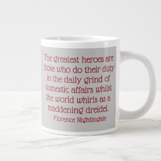 Florence Nightingale citationsteckenmugg, mest Jumbo Mugg
