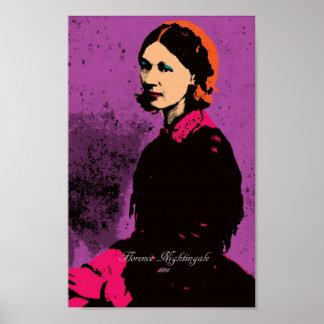 Florence Nightingale med popkonst Poster