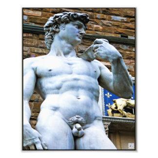Florence staty av David med kärlekcitationstecken Fototryck
