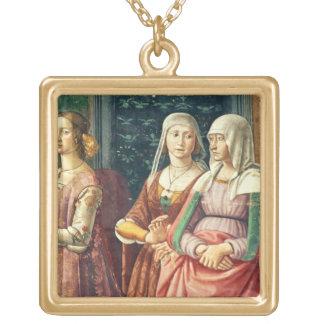 Florentine damer, från den födelsen av St John Guldpläterat Halsband