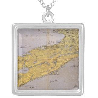 Floria, Georgia och Alabama Silverpläterat Halsband