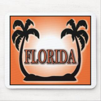 Florida Airbrushed orange solnedgångpalmträd för L Musmatta