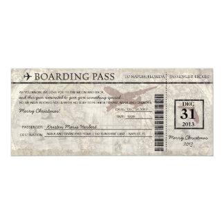 Florida att stiga ombord passerar 10,2 x 23,5 cm inbjudningskort