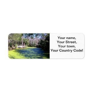 Florida flodvildmark returadress etikett