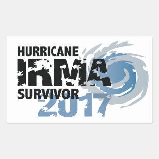 Florida för orkanIrma överlevande bildekal Rektangulärt Klistermärke