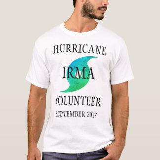 Florida för orkanIrma volontär katastrof Tee Shirt