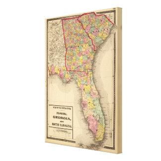 Florida, Georgia och South Carolina Canvastryck
